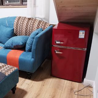 惠康小冰箱冷凍冷藏復古冰箱家用小型租房用節能彩色電冰箱   蝦皮購物