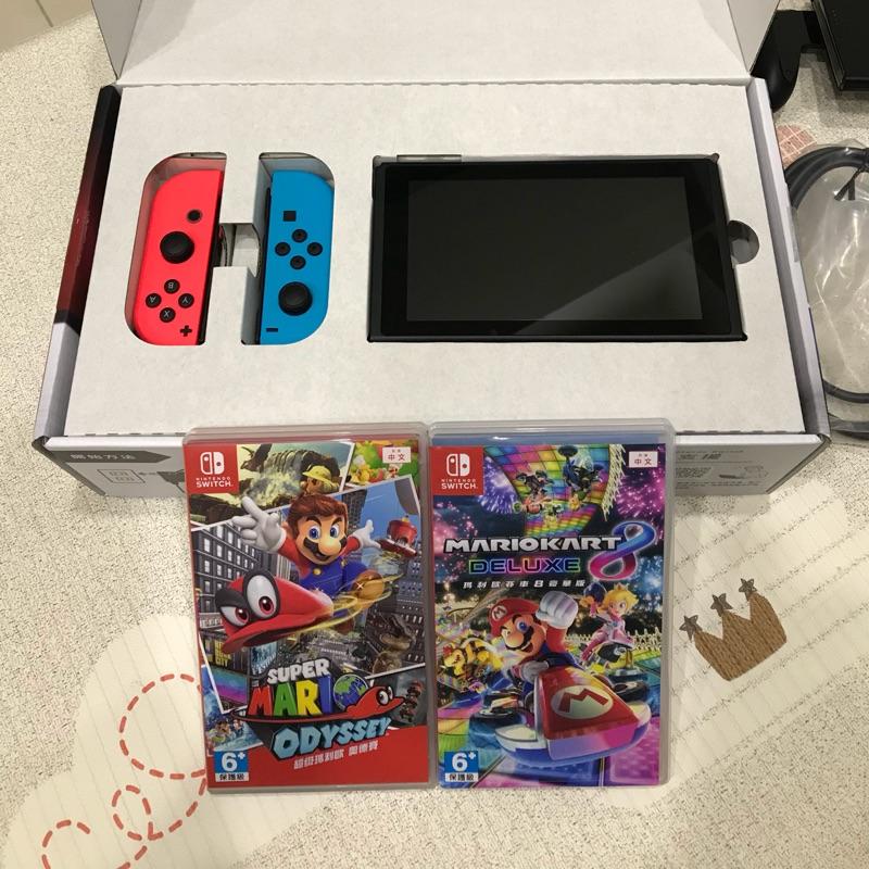 Nintendo Switch 二手主機 +2片遊戲(臺灣公司貨)   蝦皮購物