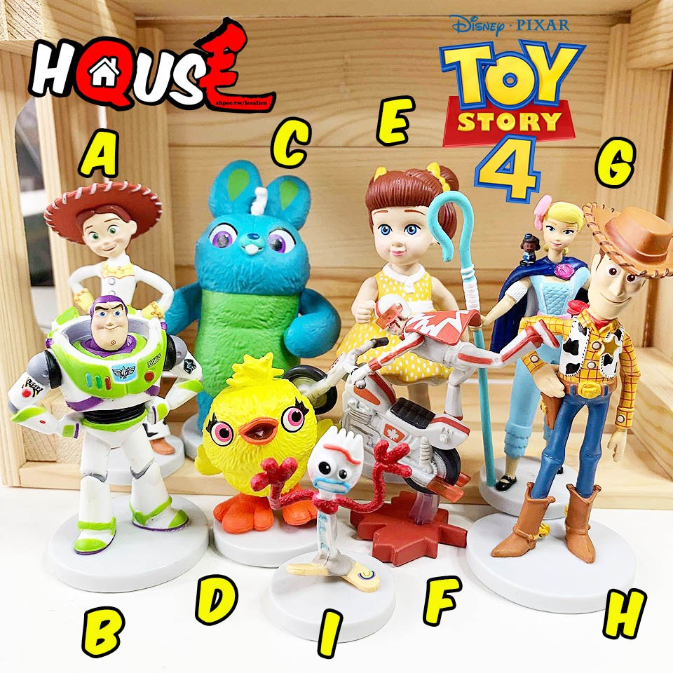 現貨 玩具總動員4 公仔 【Q毛】蓋比 bunny duckey 叉奇 牧羊女 胡迪 巴斯 翠絲 迪士尼 玩具總動員   蝦皮購物