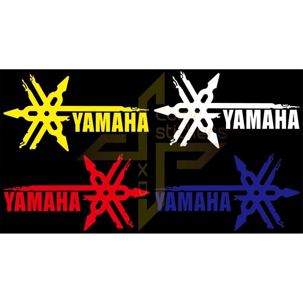 【彩貼XD】YAMAHA.音叉.LOGO.貼紙.潑墨.3M反光貼紙.機車貼紙.山葉貼紙.水墨   蝦皮購物