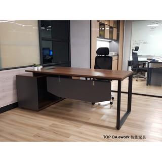 [TOP OA] 哥倫布主管桌/LOFT工業風家具/辦公桌含櫃/簡約現代感家具/時尚主管桌/OA辦公家具/單人辦公桌 | 蝦皮購物