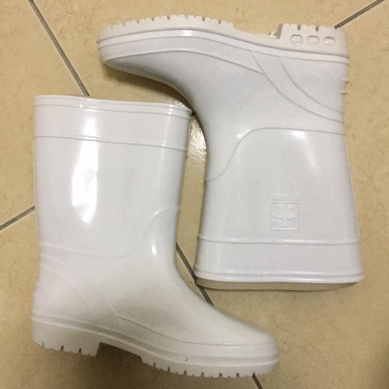 二手 達新牌白色長筒雨鞋 | 蝦皮購物