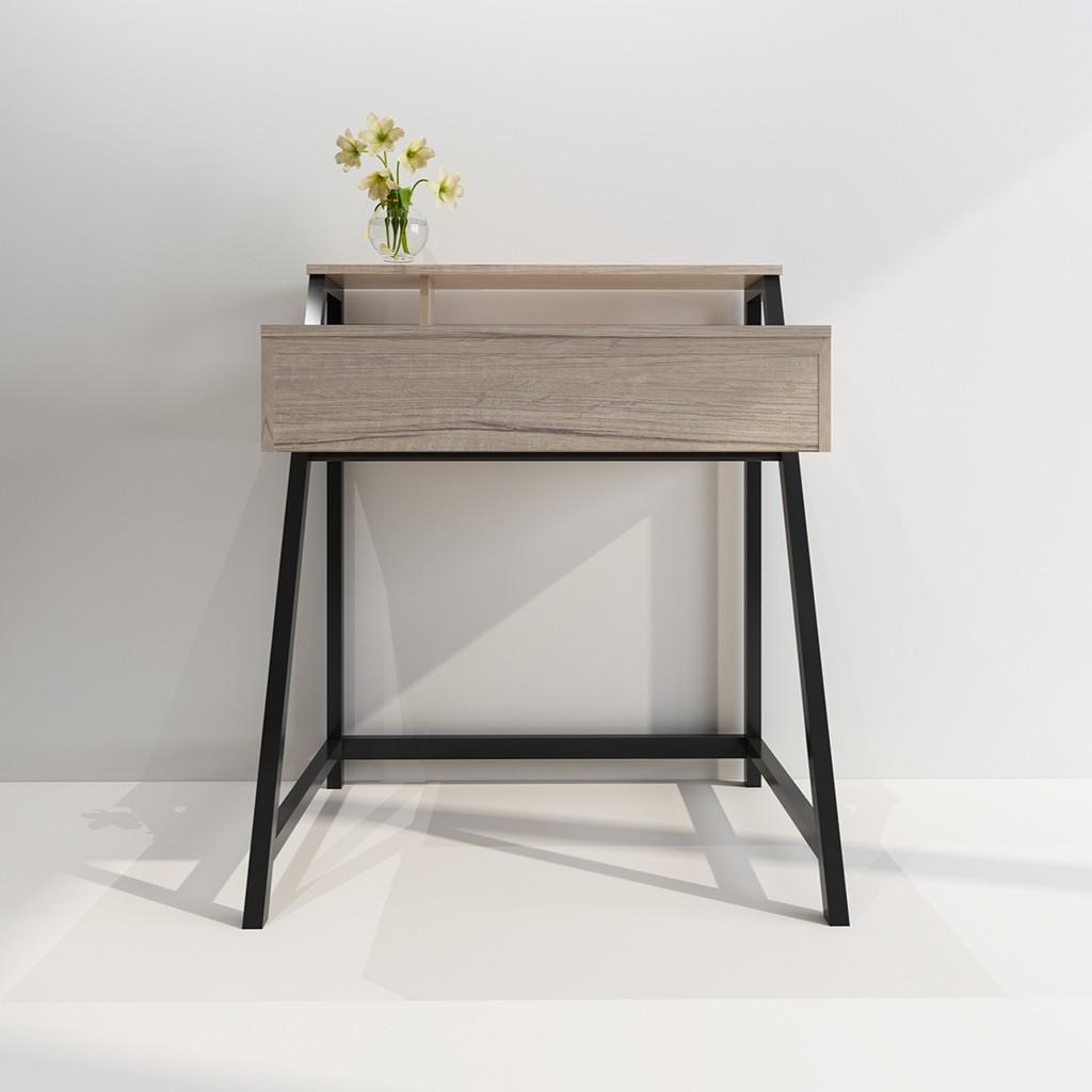 北歐唯美單抽書桌/簡約歐美木質書桌/個人工作桌   蝦皮購物