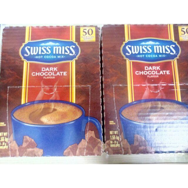 Swiss Miss 巧克力可可粉 黑巧克力 50入 costco 代購 可可亞 好市多 | 蝦皮購物