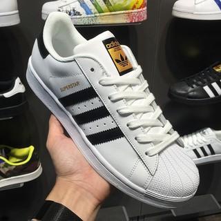 愛迪達 Adidas Superstar 金標 黑白 貝殼頭 基本款 三葉草 運動鞋休閒鞋 情侶鞋 學生鞋 板鞋 滑板鞋 | 蝦皮購物