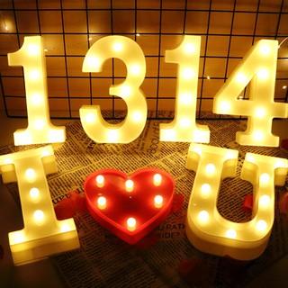英文字母 數字符號 愛心 LED造型燈 裝飾燈 氣氛燈 夜燈 告白 情人節 字母燈【RI2030】《Jami》 | 蝦皮購物
