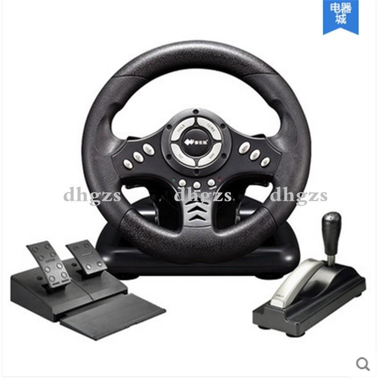 現貨&usb電腦極品飛車pc遊戲方向盤帶撥片 180度汽車賽車 學車開車模擬駕駛器 一般支援方向盤的遊戲都支持 ...