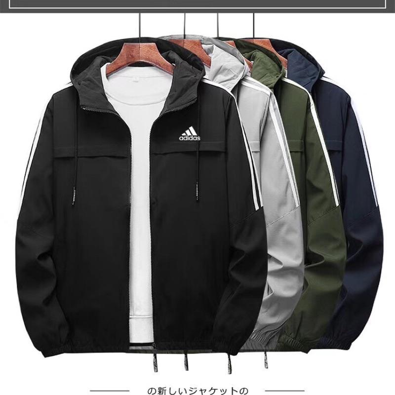 Adidas外套 愛迪達風衣 男春秋款 運動休閒外套 連帽外套 風衣外套 多顏色可選 大尺碼外套 M-8XL | 蝦皮購物
