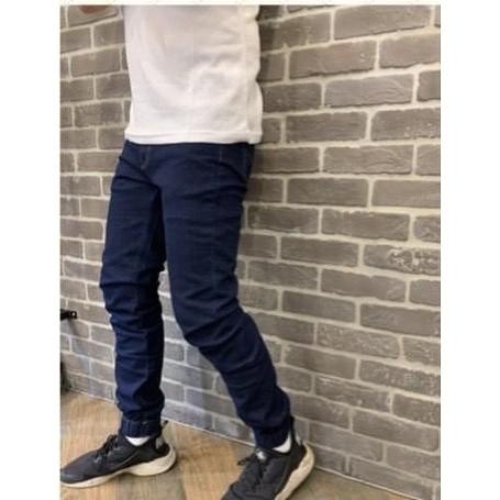 【LOOP】現貨 超彈力牛仔縮口長褲 牛仔束口褲 | 蝦皮購物