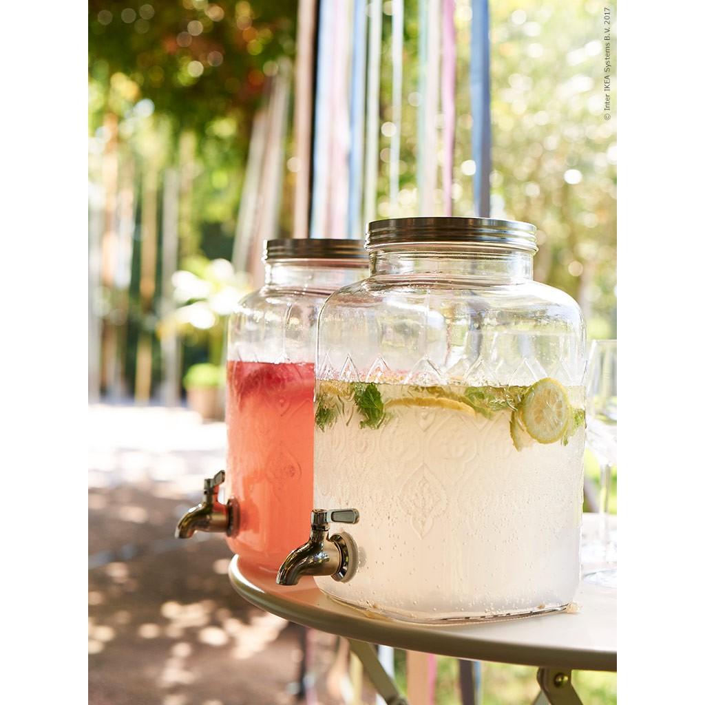 Ikea附龍頭飲料罐5.5L玻璃壺5500ml冷水壺 不銹鋼 水龍頭 可拆洗 玻璃水壺 冷飲罐 玻璃罐 飲料桶 冷飲罐 | 蝦皮購物
