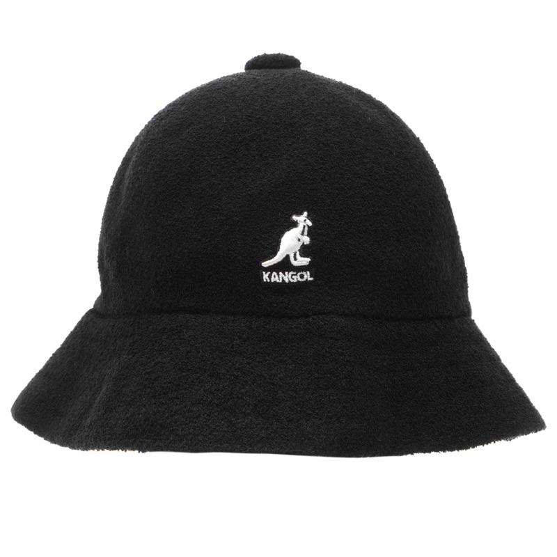 現貨 ️Psyche英國代購• Kangol袋鼠牌 鐘型漁夫帽 黑色寬帽Kangol Casual Bucket Hat | 蝦皮購物