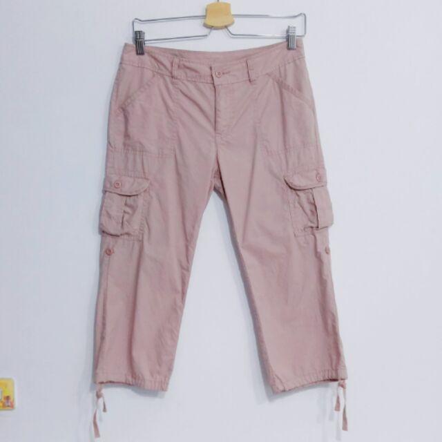 二手 Lativ 粉色七分工作褲 | 蝦皮購物