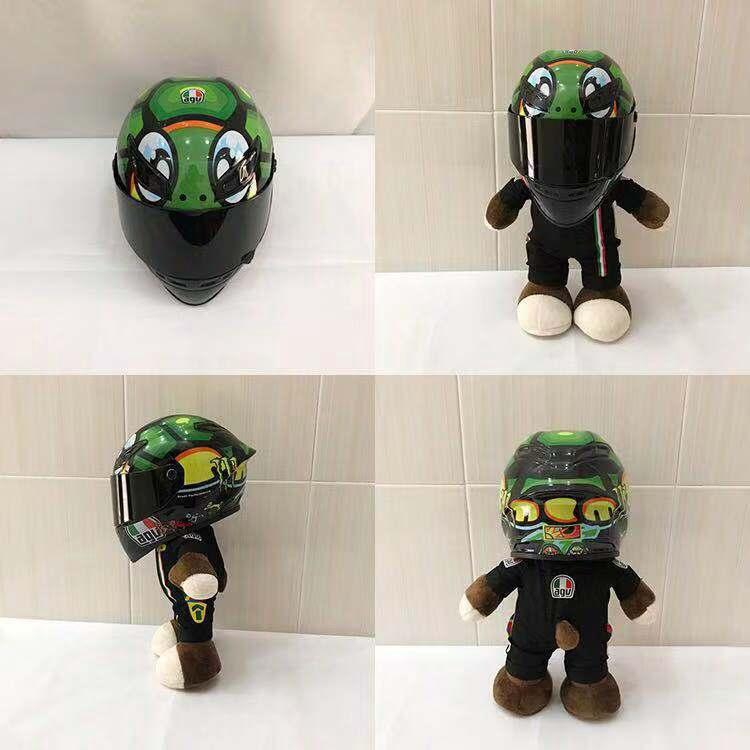 摩托車AGV頭盔公仔shoei機車迷拉力熊電源鍵日月羅拉玩偶促銷包郵 | 蝦皮購物