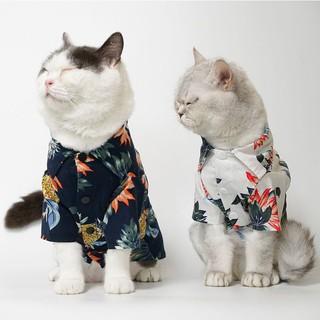 寵物夏季衣服 夏威夷 度假風 服飾 熱帶雨林 菠蘿 椰樹 寵物衣服 叢林 樹葉 | 蝦皮購物
