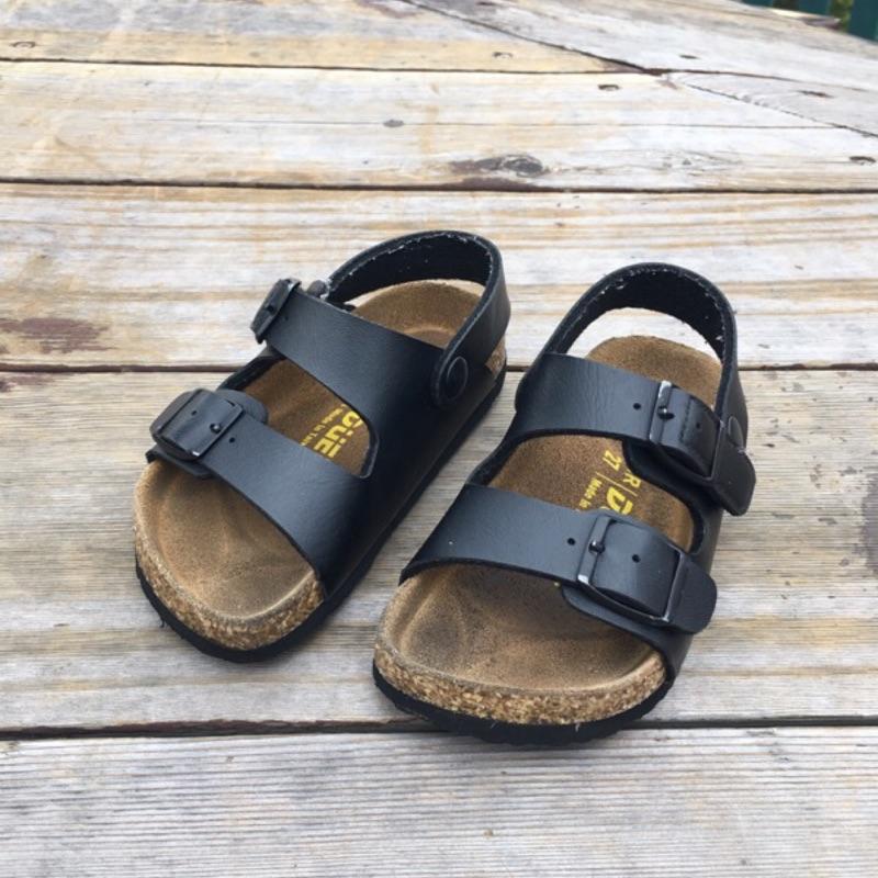 兒童經典勃肯涼鞋-黑白兩色 夏季必備 | 蝦皮購物