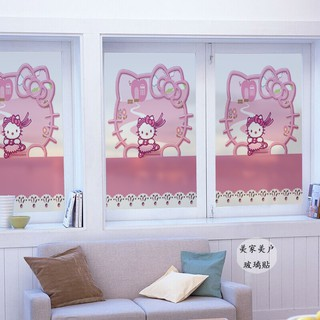 玻璃貼 窗貼 卡通貓 靜電免膠磨砂貼膜卡通創意兒童房 幼兒園 托兒所玻璃貼 玻璃貼膜 窗戶玻璃貼 靜電玻璃貼 ...