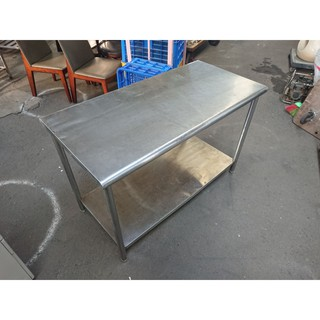 【吉林二手貨G1500008】3尺、4尺、5尺、6尺(兩層)白鐵工作桌/白鐵不鏽鋼工作臺/流理臺/不銹鋼工作臺 | 蝦皮購物