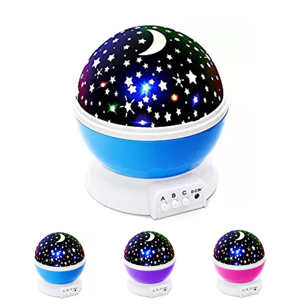 新款 現貨 自動旋轉星空投影燈 星星月亮七彩變換 USB燈 彩鑽星光投影儀 LED小夜燈 創意禮物 浪漫禮物 | 蝦皮購物