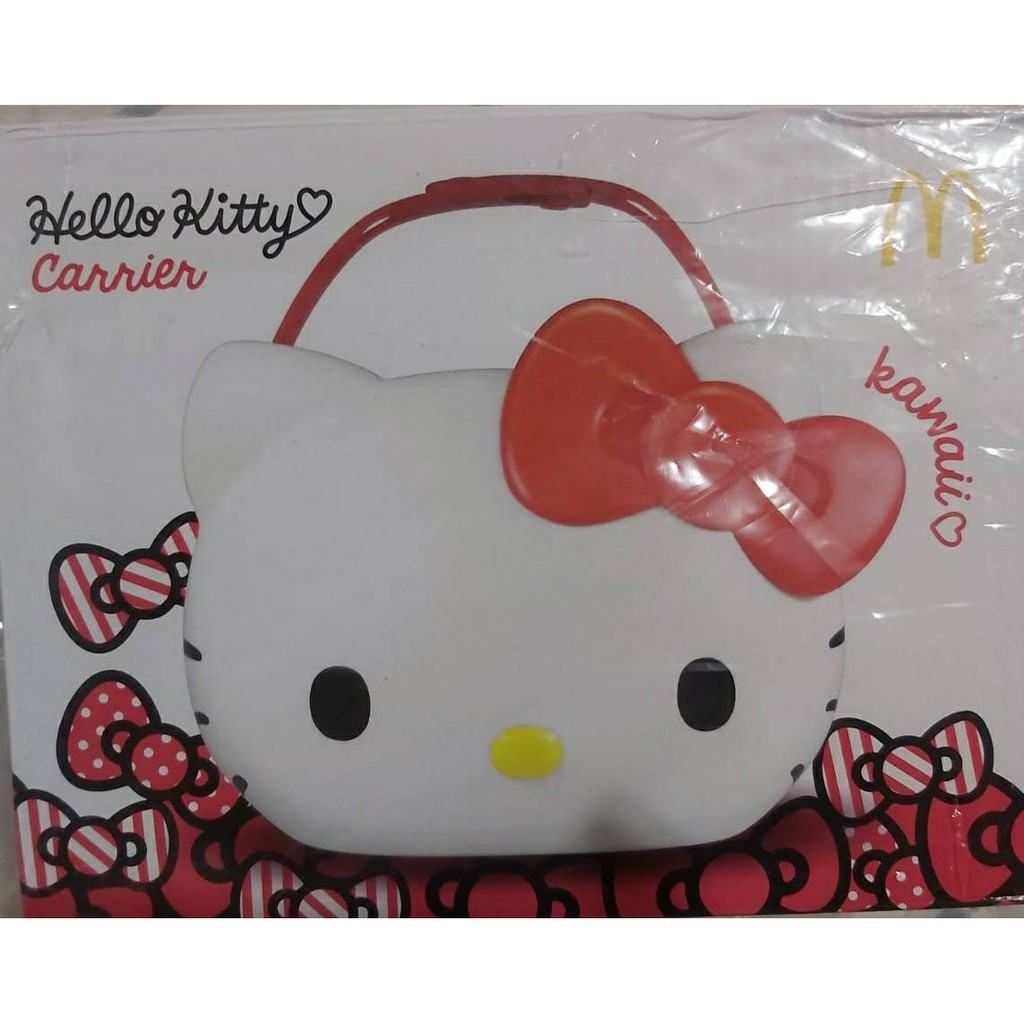 全新限量 麥當勞 Hello Kitty 聯名 限定 萬用置物籃 凱蒂貓 Q萌帶著走 手提式 置物籃 收納籃 收納箱 | 蝦皮購物