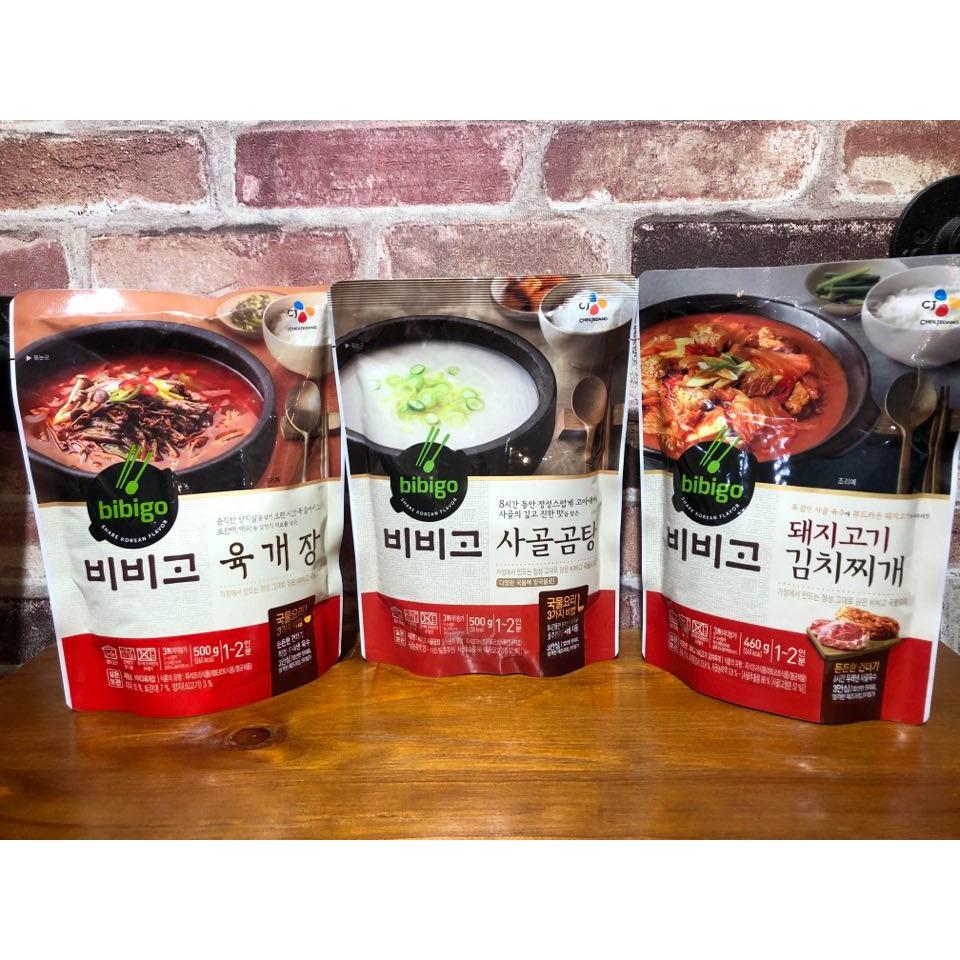 現貨!韓國CJ Bibigo 豬肉泡菜鍋/牛骨湯/辣牛肉湯 | 蝦皮購物