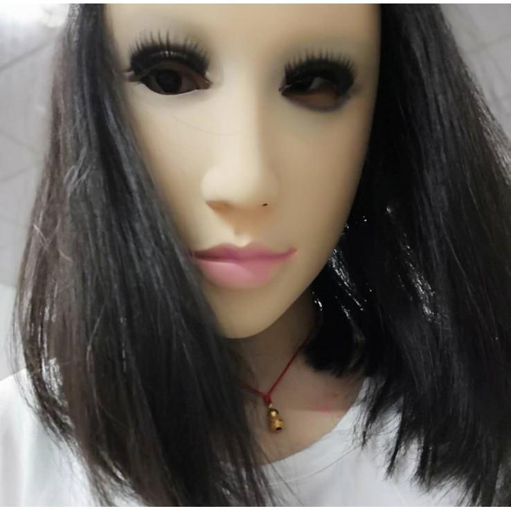 【HappyMH】萬聖節成人化妝舞會cos美女偽娘乳膠仿真人面具人皮頭套 | 蝦皮購物