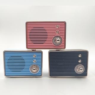 M10復古收音機藍牙音箱創意迷你插卡收音機低音砲手機迷你音箱   蝦皮購物