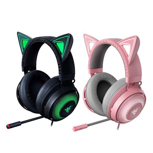 Razer 雷蛇 北海巨妖 Kraken Kitty版耳機麥克風 黑色 粉色 | 蝦皮購物