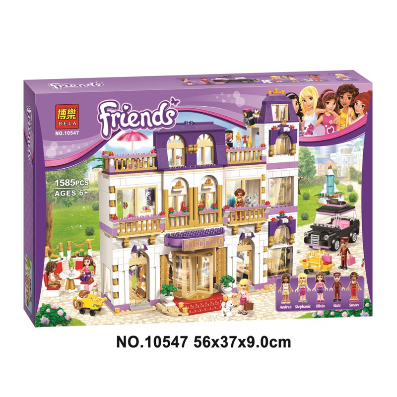 [7-4]兼容樂高女孩好朋友系列心湖城大酒店41101兒童拼裝積木玩具01045 | 蝦皮購物