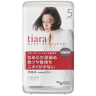 SHISEIDO TIARA 資生堂 染髮劑 白髮染劑 白髮專用   蝦皮購物