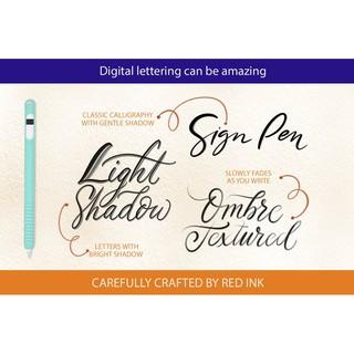 墨水英文書法毛筆字體筆畫形狀Procreate筆刷+無縫紙張紋理素材庫 | 蝦皮購物