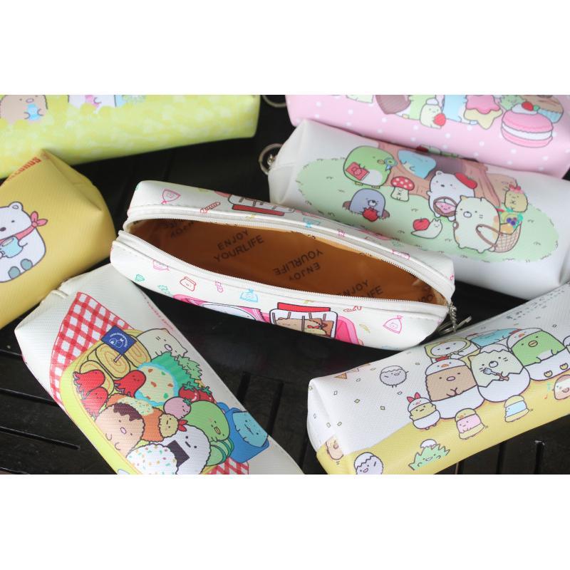 LGKAR 日本san-x可愛sumikko角落生物牆角生物卡通pu筆袋學生文具收納袋   蝦皮購物