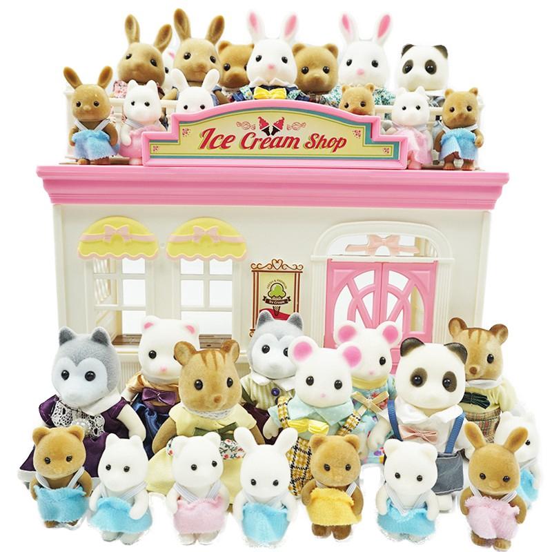 『新品現貨』森林家族 動物組 總25組動 小白兔 小白鼠 哈士奇 小灰兔 小灰熊 小白熊 小松鼠 小熊貓 與森貝 ...