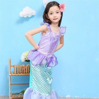 小美人魚公主裝C款/艾莉兒公主服萬聖節100-140cm生日派對/cosplay變裝派對人魚公主服   蝦皮購物