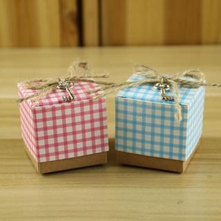 新款 歐式 格子 喜糖盒 創意 牛皮紙 糖盒 歐式 外貿 出口 喜糖盒 現貨 批發 | 蝦皮購物