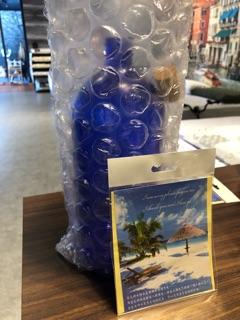 零極限-藍色玻璃瓶~清理能量瓶-1000ml(現貨)-附軟木塞#荷歐波諾波諾 | 蝦皮購物