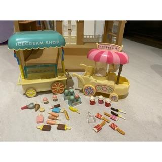 森林家族絕版冰淇淋車+爆米花車(售出   蝦皮購物