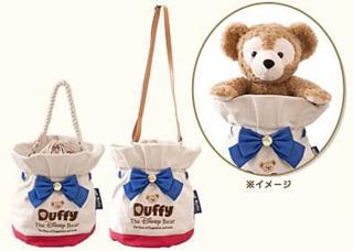 日本 迪士尼樂園 Duffy 達菲 達菲熊 斜背包 側背包 提袋 手提袋 束口袋 水桶包 肩背包   蝦皮購物