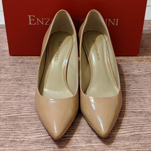 Enzo Angiolini 7.5號 歐美 裸色真皮高跟鞋 尖頭高跟鞋 婚鞋 奶茶色 nine west 副牌 | 蝦皮購物