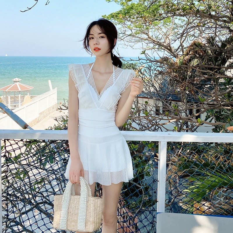 ☞熱賣款 顯瘦甜美☞韓國♠日本 泳衣/比基尼 泳衣 套裝 大尺碼 多件式泳衣 純色 | 蝦皮購物