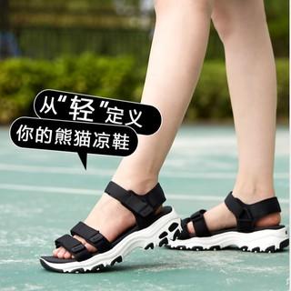 韓國代購 斯凱奇 涼鞋 Skechers 熊貓涼鞋 女鞋 休閒沙灘鞋 復古 厚底 增高涼鞋 抗磨 減震 運動涼鞋 | 蝦皮購物