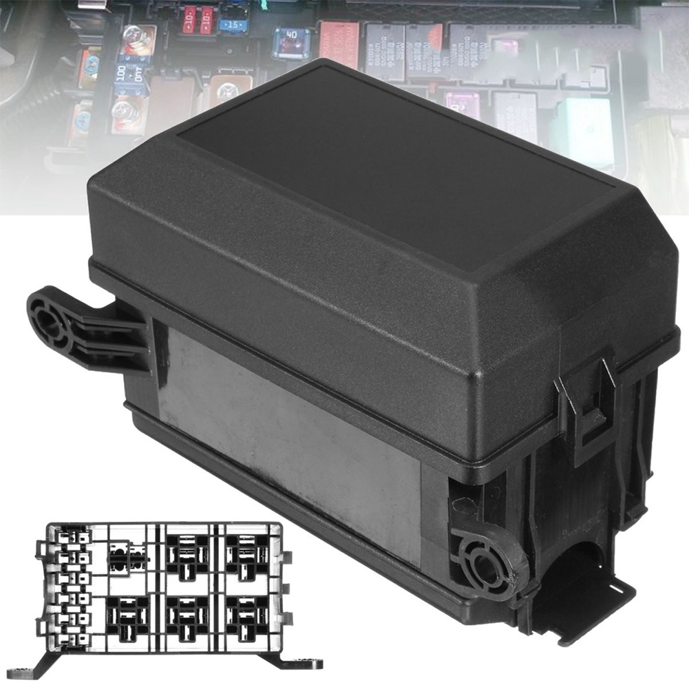 hight resolution of black 6 ways replacement waterproof car easy installation relay holder universal standard blade accessories fuse box