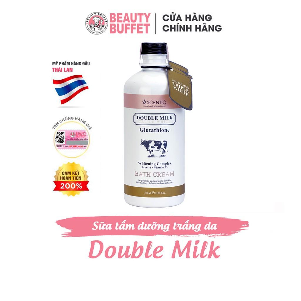 [Shower] Sữa tắm trắng da con bò Thái Lan Beauty Buffet Scentio Double Milk 350ml | Shopee Việt Nam