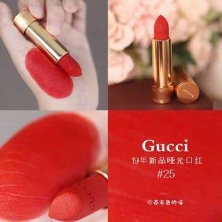 Son Gucci Rouge A Levres Satin Lipstick màu 25 202 203 204 208 302 308 500 502 504 505 506 508 509 | Shopee Việt Nam