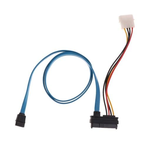 small resolution of 7 pin sata serial ata to sas 29 pin 4 pin cable male connector adapter