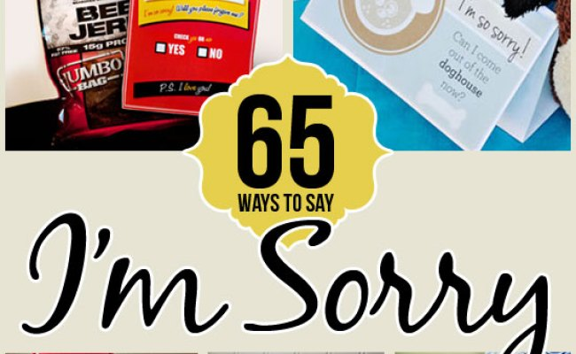 65 Ways To Say I M Sorry