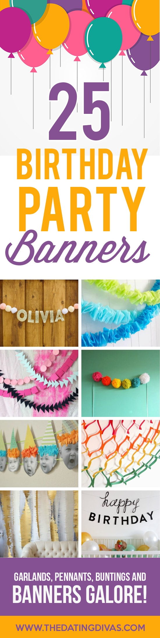 Cute Birthday Party Banners, Garlands and Pennants