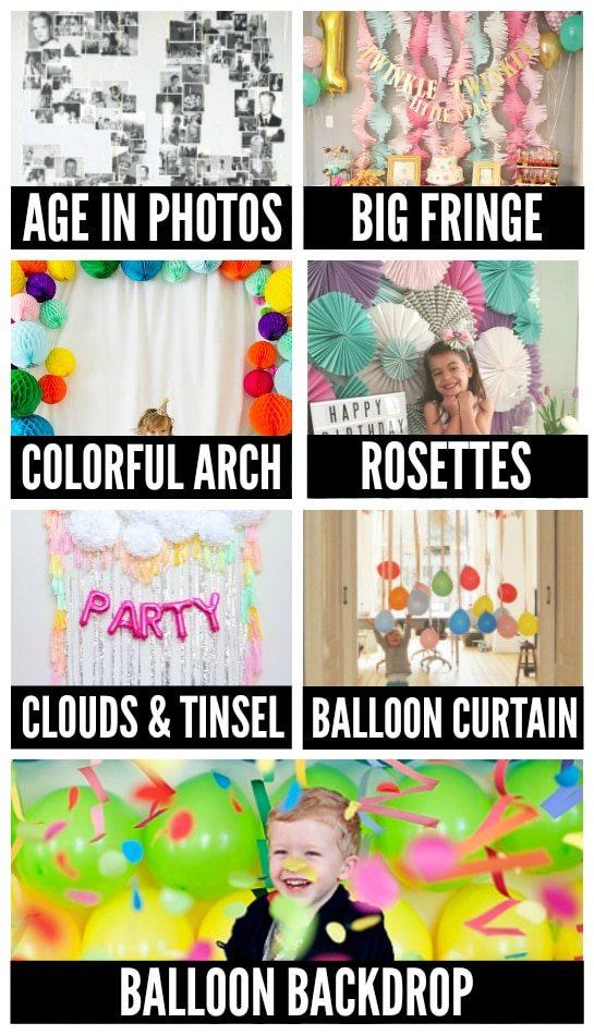 Birthday Wall Decorations and Photo Backdrops