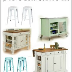 Small Kitchen Island Ideas With Seating Moveable Islands White Lace Cottage