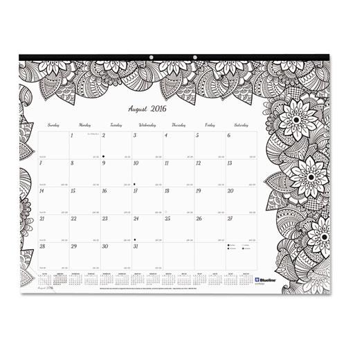 BettyMills: Academic DoodlePlan Desk Pad Calendar w