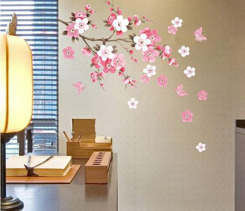 Removable Wall Sticker Flowers Butterfly Decal Art DIY Home Wall